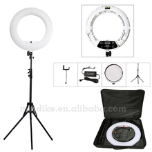 "Yidoblo white FD-480II 18"" LED Ring Light Kit 480 LED Warm & Cold 2 color Adjustable Photographic Lighting+ stand (2M)+ Soft bag(China)"