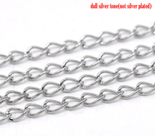 Buy DoreenBeads 6M Silver Tone Links-Opened Curb Chains 5.5x3.5mm, B13009, yiwu for $1.19 in AliExpress store
