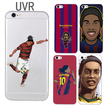 UVR Brand Ronaldinho phone case for iphone 5 5s 6 6s 7 7 plus 6plus soft TPU Transparent football case