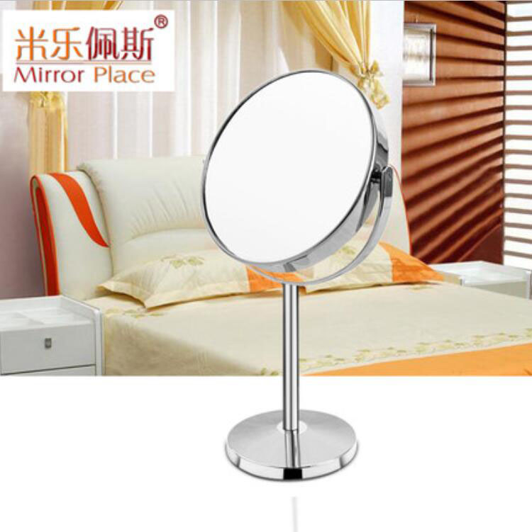 A 5-inch high quality European high definition portable and desktop cosmetic mirror with double magnification<br>