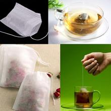 Hot Sale 2015 New 100pcs/lot Disposable Empty Teabags String Heat Seal Filter Paper for Herb Loose Tea Bag 5.3 x 7cm GI876806
