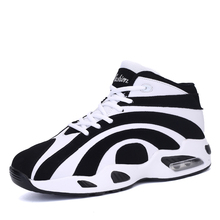 New Couples Basketball Shoes Air Cushion Lace Up Male Basketball Boots Brand Women Sneakers High Top Basketball Shoes For Sale(China)