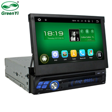 Single 1 Din Universal Touch Screen Car Radio DVD Player Android 5.1.1 Quad Core Audio Stereo GPS Navigation Head Unit RDS 4G BT