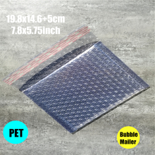 19.8x14.6+5(7.8*5.75'') 20pc PET aluminum Padded Shipping Envelope Metallic Bubble Mailer Aluminum Foil Gift Bag Packing Wrap
