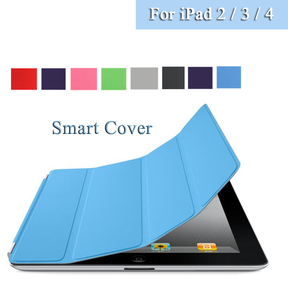 Ultra-thin Magnetic Front PU Leather slim Smart Cover Skin + crystal transparent Hard Back Case For Apple iPad 2 3 4<br><br>Aliexpress