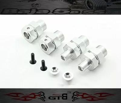 GTBRacing CNC-5SC Alloy Extended Axles - Front &amp; Rear FOR hpi km rv baja 5b ss GR029<br>