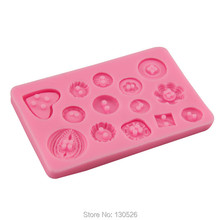 NEW Silicone Mold  DIY Button shaped Christmas wedding decoration silicone mold fondant sugar cooking tools cake decoration