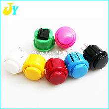 10 pcs factory price  arcade button 24mm Round Push Button Built-in small micro switch for DIY arcade controller jamma mame