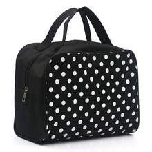2017 Fashion Lady Organizer Multi Functional Cosmetic Storage Dots Bags Women Makeup Bag with Pockets Toiletry Pouch Necessaire