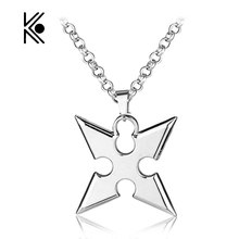 Can Drop Shipping MOSU Hot Game Kingdom Hearts Metal Pendent Alloy Necklace Roxas dart Pendant Cosplay Accessories Jewelry Gift