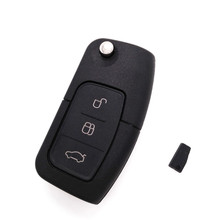 Hot!HKCYSEA Brand New Folding Flip Remote Car Key 3 Button 433MHZ For FORD Focus Mondeo Fiesta With 4D-63 chip