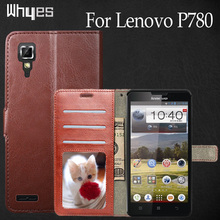 For Lenovo P780 Case Leather Crazy Horse Pattern Flip Cases Retro Wallet Card Holder Cell Phone Bags Cover Case For Lenovo P 780(China)