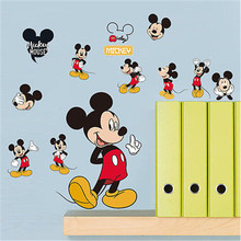 Hot sale Minnie Mouse Bathroom Decoration Cartoon Cute glass Wall Stickers  20*30CM 4 Styles
