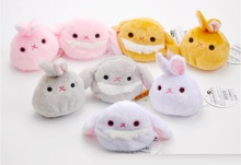 7cm Cute Meng rabbit rabbit snow bunny rabbit plush dolls Christmas gift 8pcs/set
