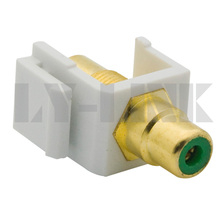 keystone RCA connector with green color(China)