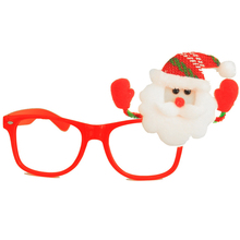 2pcs Christmas Glasses Wholesale Xmas Party Decoration Props Christmas Ornament Santa Claus Reindeer Snowman Bear Toys Supplies(China)