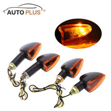 Hot Sale 4pcs 12V Motorcycle Bike Bulb Amber Front  Back Turn Signal Indicator Light