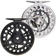 3/4 5/6 7/8WT Fly Reel Silver Black Die casting Large Arbor Aluminum Fly Fishing Reel(China)