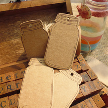 50pcs Bottle Shape Kraft Gift tag Hemp String Not Included , Wedding Party Paper Tag, Price Label Hang Tag