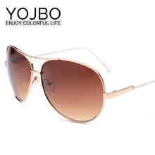 YOJBO 2017 Hot Sale Limited Adult Alloy Polycarbonate Sunglasses Pilot Brand Designer Mirror Sun Shades Glasses For Women 8045