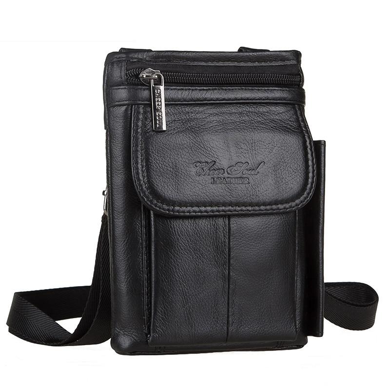 Genuine leather Men bag zipper mens messenger bags fashion flap crossbody bag handbags single shoulder bag<br>