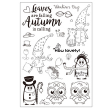 Boy and Owls Transparent Clear Silicone Stamp/seal for DIY Scrapbooking/photo Album Decorative Clear Stamp Sheets