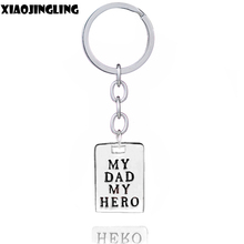 XIAOJINGLING Keyfob Jewelry For Father My Dad My Hero Zinc Alloy Keychain Keyring Key Chain Bag Accessories Trendy Car Chaveiro(China)