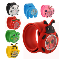 Cartoon Unisex Quartz Sports Rubber Kids Wrist Watch Cute Unique Pattern Animal Frog Bee Toys for Children Birthday Gift