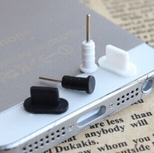2pcs/set 3.5mm Headset Earphone 2pcs Jack Plug + 2pcs Charger USB Dock Anti Dust Plug Cap Cover for iphone5 Free Shipping