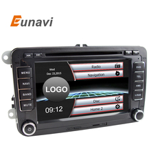 Eunavi 2 din 7 inch car radio dvd player gps navigation for GOLF 6 new polo New Bora JETTA PASSAT B6 SKODA GPS Map