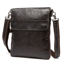 100% genuine leather men bags best business men's messenger bags real leather crossbody bag Brand design cowhide leather handbag