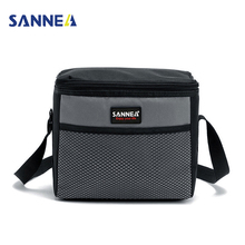 SANNE 5L Cooler Bags Kids Insulated Lunch Box for Sandwich Snacks Roomy Portable Oxford Thermal Food Picnic Tote Shoulder Bag(China)