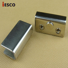 Small stainless steel glass cabinet with glass clip glass push plate glass hinge wire drawing