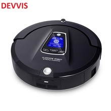 (Ship from Russia) Automatic Robot vacuum cleaner for Home,Schedule, 2 way Virtual blocker, Selfcharg,Remote, Mop, UV lamp, LCD(China)