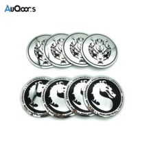 AuQoor.s 4pcs Dragon Snow Wolf Car sticker Car Steering tire Wheel Center Hub Emblem Badge Decals Symbol Car Styling accessories(China)