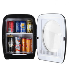 Smad 12V Portable Traveling Car Mini Fridge Camping Cooler and Warmer 110V Electric Truck Refrigerator with Handle-Black