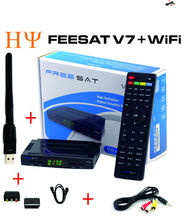 [Genuine]Freesat V7  with Scart Port USB Wifi DVB-S2 HD Satellite TV Receiver Support PowerVu Biss Key Cccamd Newcamd Youporn