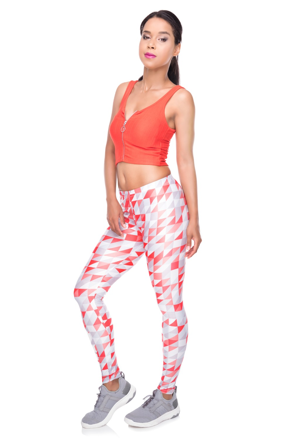 34259 WORK OUT triangle gray red (2)