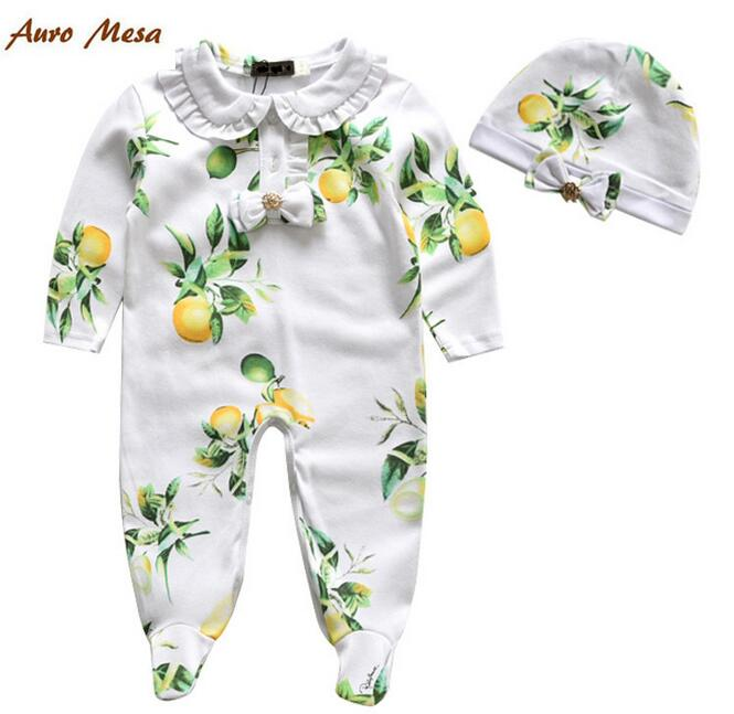 Spring Autumn Baby Girl Clothing Sets brand Newborn Clothes Set For Babies girl Clothes Suits(romper+hat )Infant Set<br><br>Aliexpress