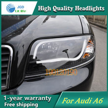 JGD Brand New Styling for Audi A6 LED Headlight 1997-2004 Headlight Bi-Xenon Head Lamp LED DRL Car Lights(China)