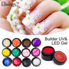 Ellwings 12 Color Sculpture Nail Gel 3D Carved UV Gel Creative DIY Nail Art Decorative 3D Gel Modelling Painting Manicure Tools(China)