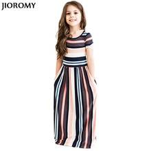 Buy JIOROMY 2017 New Fashion Baby Girls Striped Dress Summer Girl Children Beach Long Dresses Kids Short Sleeve Dress Girl Clothing for $5.20 in AliExpress store