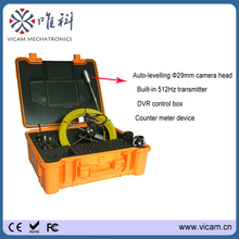 "50m cable 8"" color LCD monitor ventilating duct pipe sewer video inspection camera with meter counter V8-1288TC(China)"