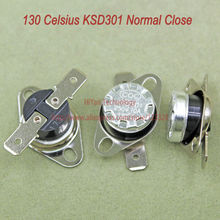 Buy 10pcs/lot KSD301 Thermostat Normally Normal Close 130 Degrees Celsius Thermostat Switches NC Temperature Switch for $3.42 in AliExpress store