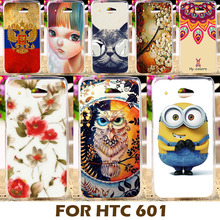 Top Selling Painting Design Hard Plastic Case For HTC Desire 601 619D 4.5 Inch Cell Phone Cover Shell Protective Sleeve