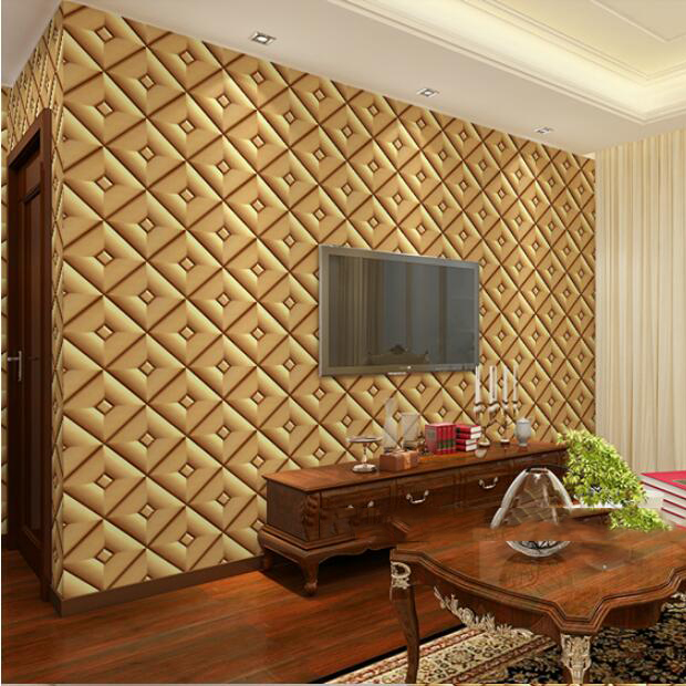 3d faux leather designs wallpaper tv wallpaper for background <br>