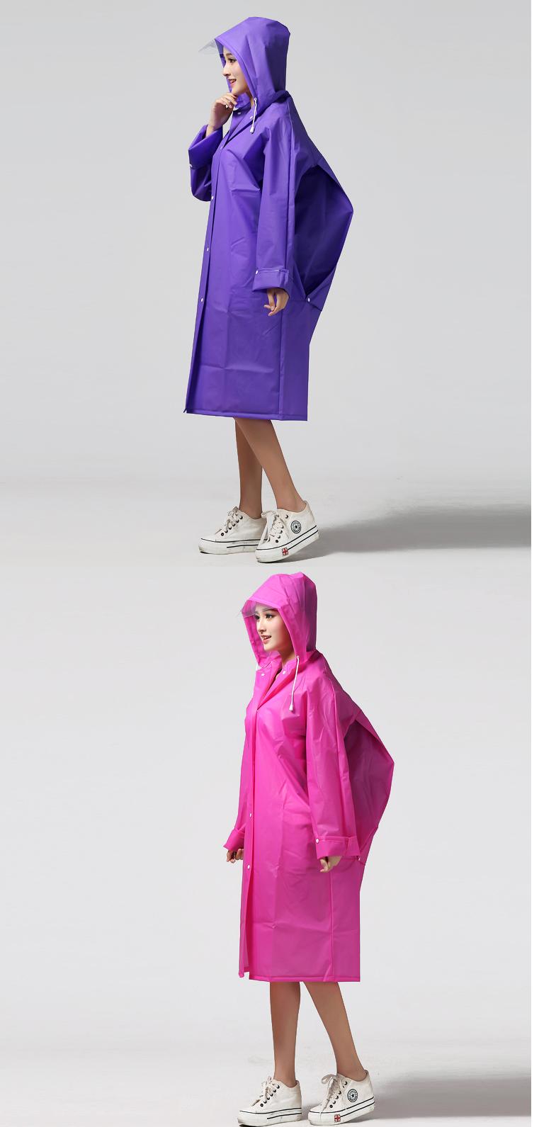 Women Transparent Portable Long Raincoats 19