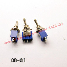 5Pcs MTS102 ON-ON 3 Pin Mini  Miniature Latching Toggle Switch MTS102 3A/250V 6A/125V