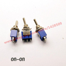 5Pcs MTS102 ON-ON 3 Pin Mini Miniature Latching Toggle Switch MTS102 3A/250V 6A/125V(China)