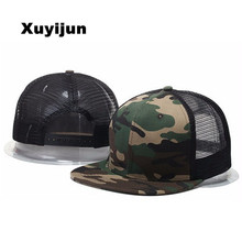 2017 sale mesh cap in white camo snapback women's baseball hats camouflage caps bboy hip hop mens Casquettes hats bones Solid
